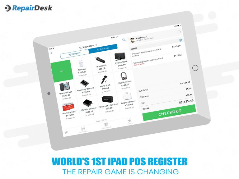 WORLD'S 1ST iPAD POS REGISTER: The Repair Game is Changing!