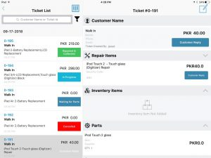 ticket UI