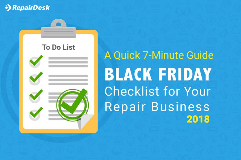 Black Friday & Cyber Monday Checklist for Your Repair Business