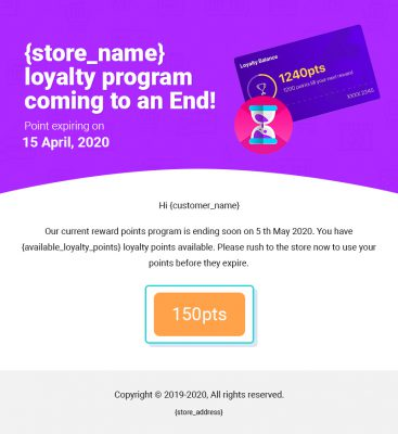 End of Loyalty Program for Customers