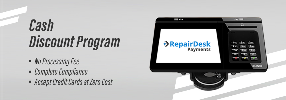cash discount program in our computer repair shop software